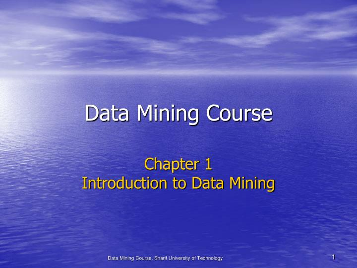 data mining course n.