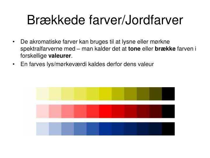 brækkede farver PPT   Farvevirkning/Farvekontraster PowerPoint Presentation   ID  brækkede farver