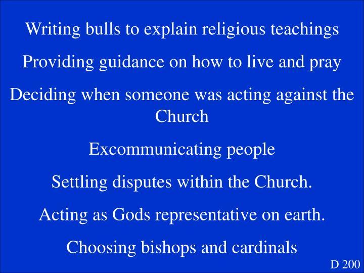 Writing bulls to explain religious teachings