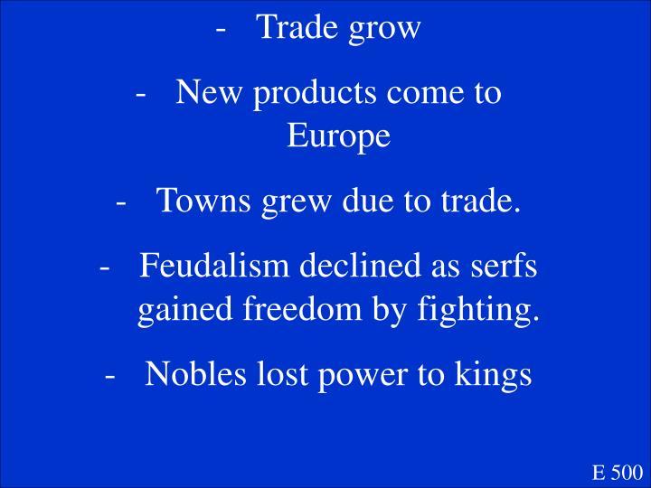 Trade grow
