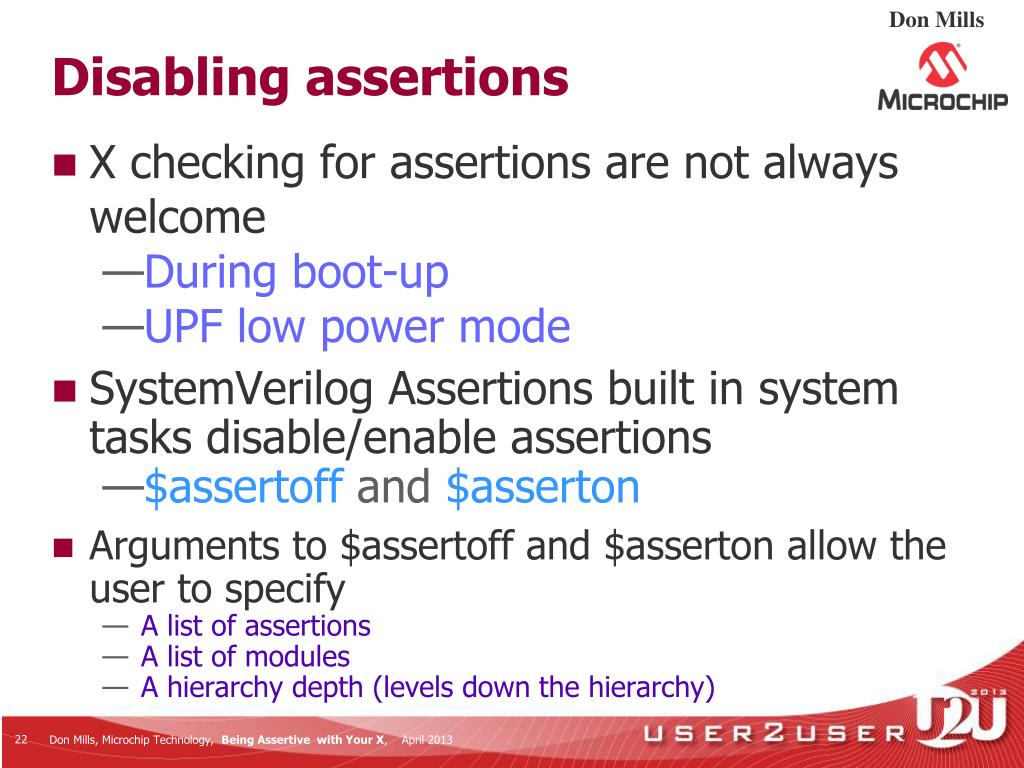 PPT - Being Assertive With Your X (SystemVerilog Assertions for