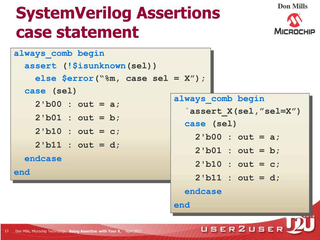 PPT - Being Assertive With Your X (SystemVerilog Assertions