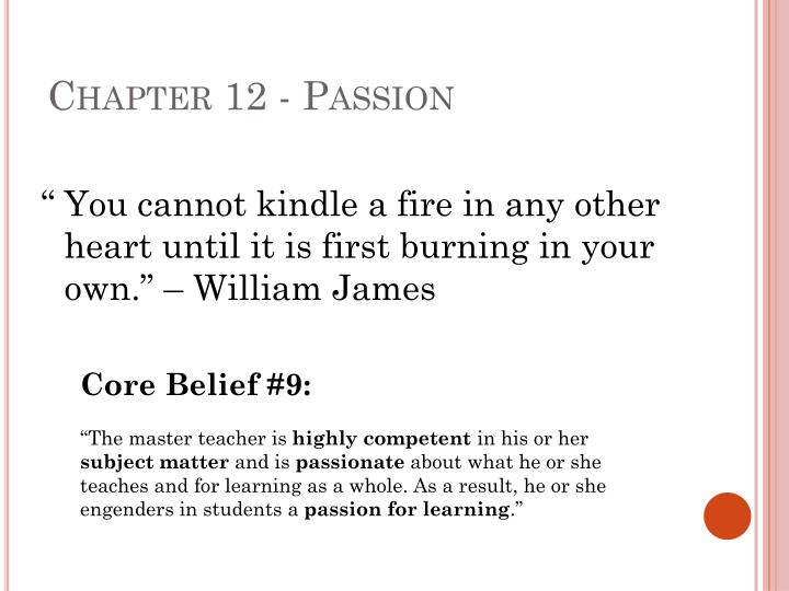 Chapter 12 - Passion