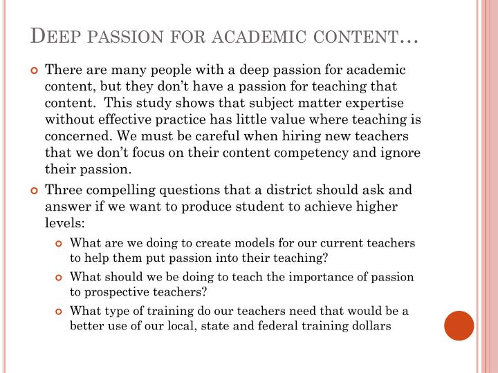 Deep passion for academic content…