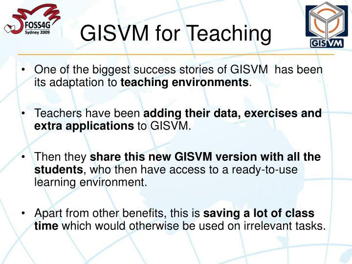 GISVM for Teaching