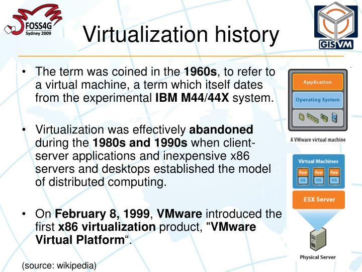 Virtualization history