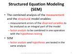 structured equation modeling sem1