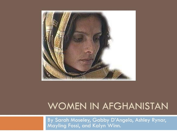 women in afghanistan n.