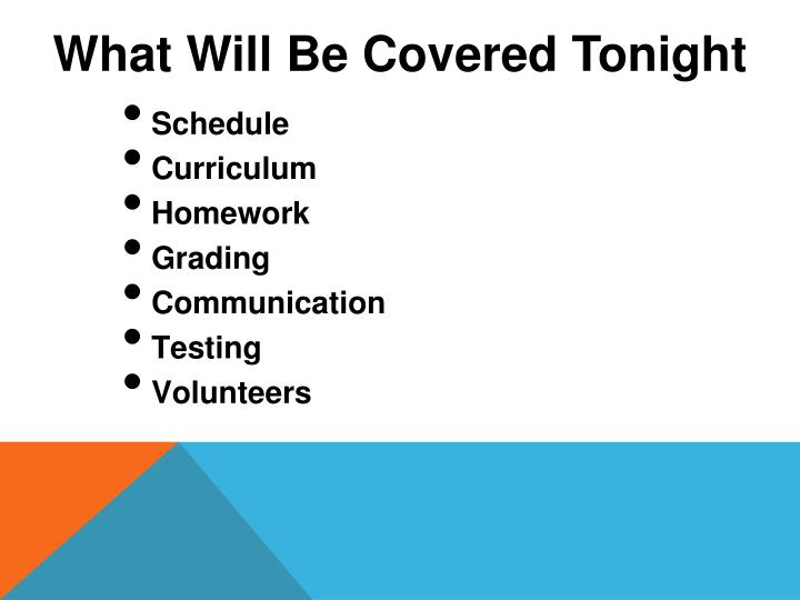 What Will Be Covered Tonight