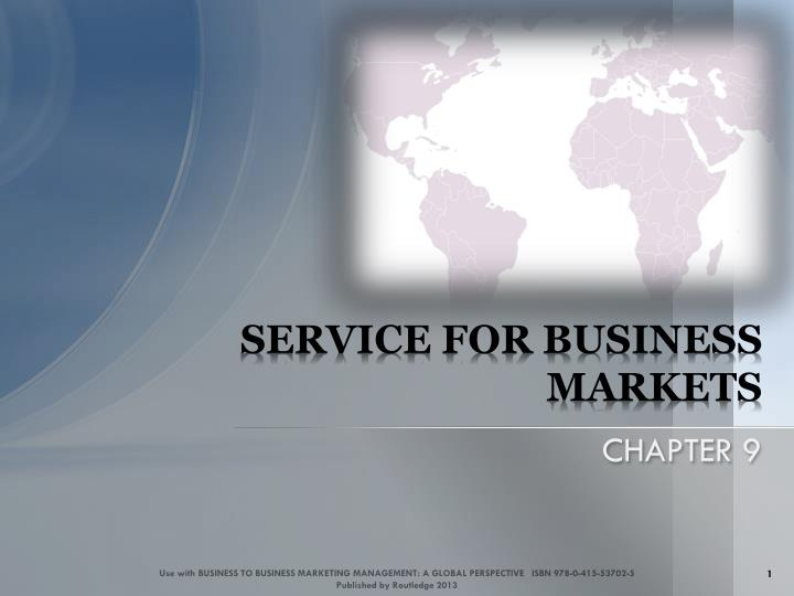 service for business markets n.