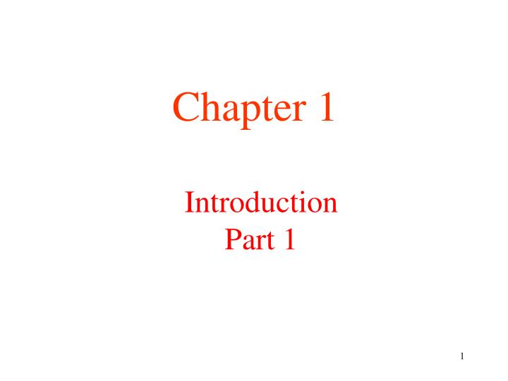 introduction part 1 n.