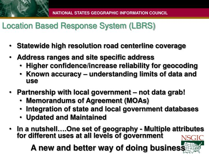 Location Based Response System (LBRS)