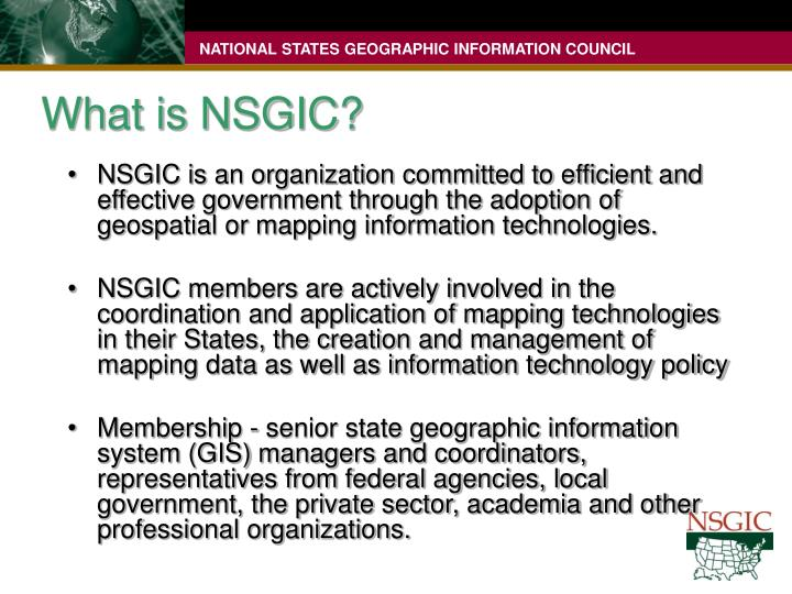 What is nsgic