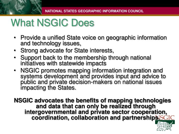 What NSGIC Does