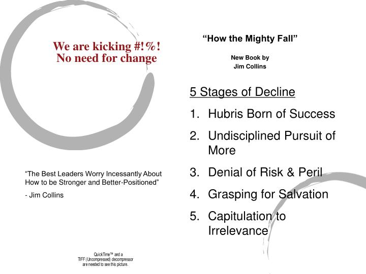 How the mighty fall new book by jim collins