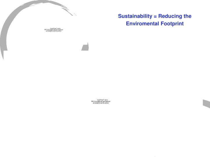 Sustainability = Reducing the
