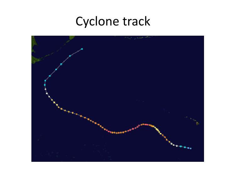 Cyclone track