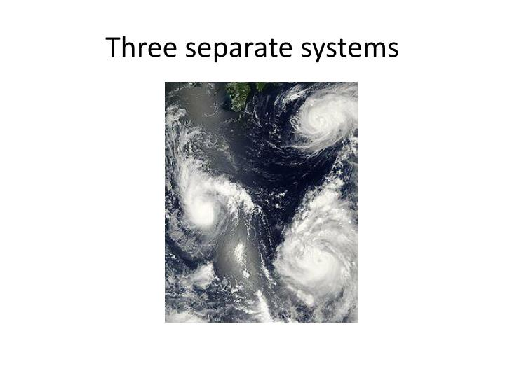 Three separate systems