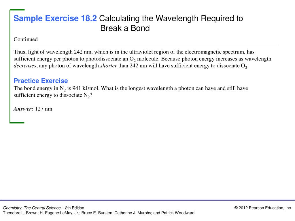 PPT - Sample Exercise 18.1 Calculating the Concentration ...