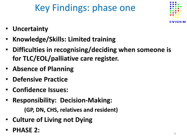 Key Findings: phase one