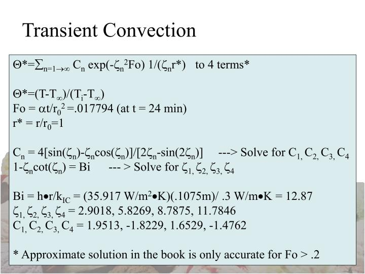 Transient Convection