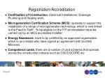 registration accreditation