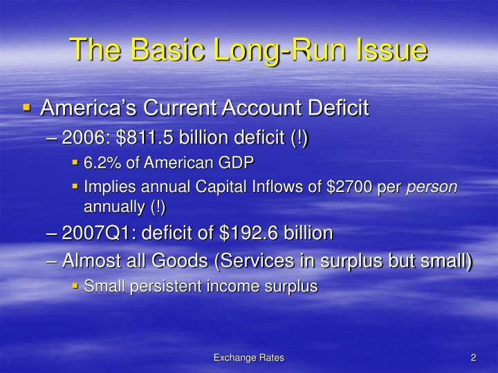 The basic long run issue