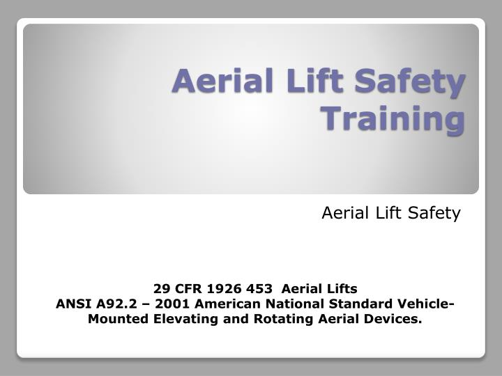 aerial lift safety training n.