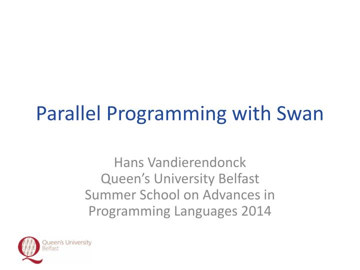 parallel programming with swan n.