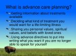what is advance care planning1