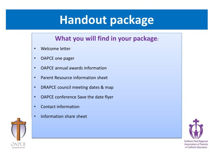 Handout package