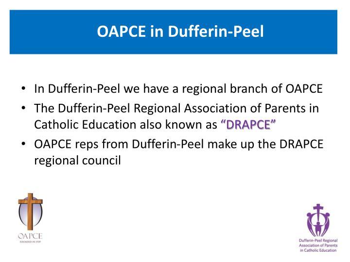 OAPCE in Dufferin-Peel
