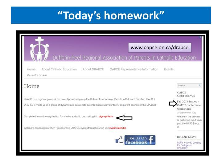 """Today's homework"""