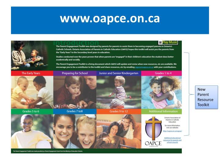 www.oapce.on.ca