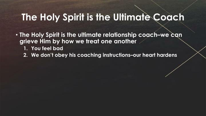 The Holy Spirit is the Ultimate Coach