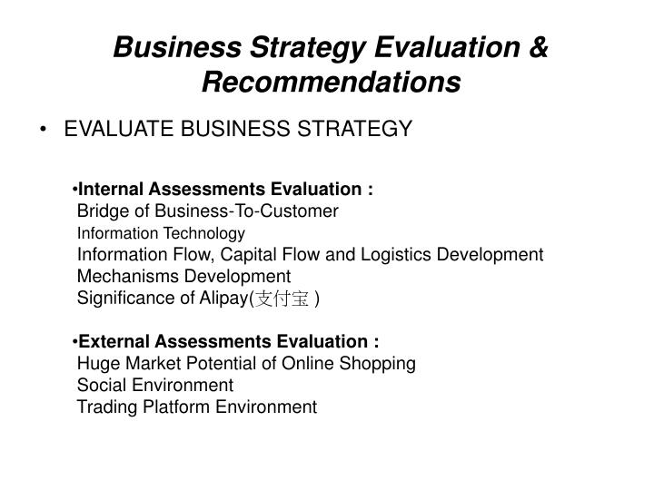 evaluation of information strategies It is useful to consider strategy formulation as part of a strategic including identification and evaluation of this strategy is a mixture or.