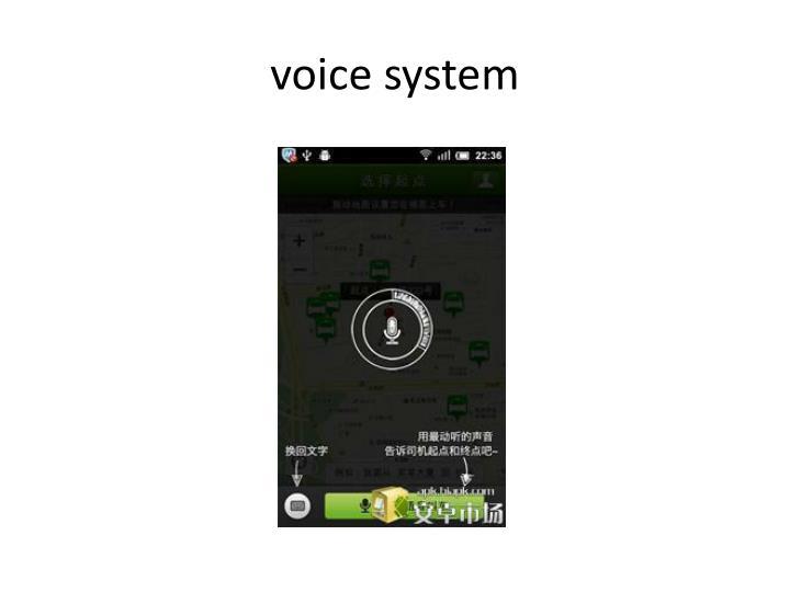 voice system
