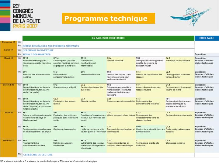 Programme technique