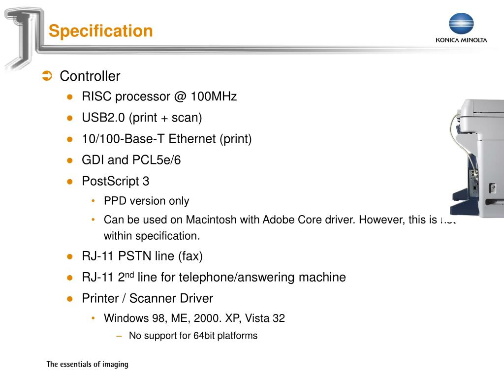 PPT - Konica Minolta 1600f PowerPoint Presentation - ID:5565656