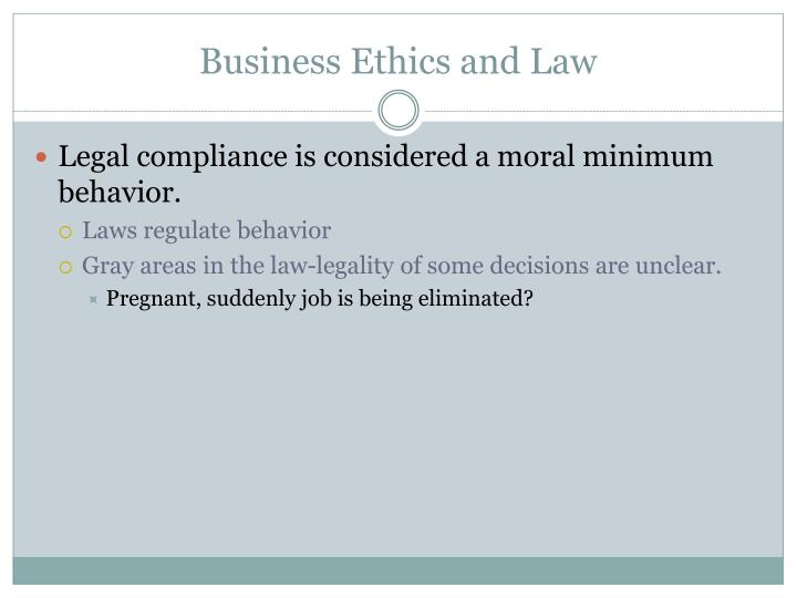 Business Ethics and Law