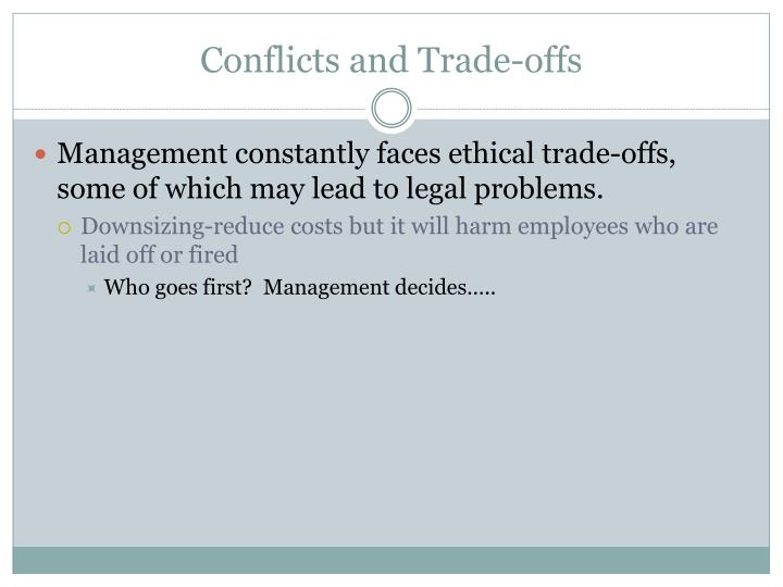 Conflicts and Trade-offs
