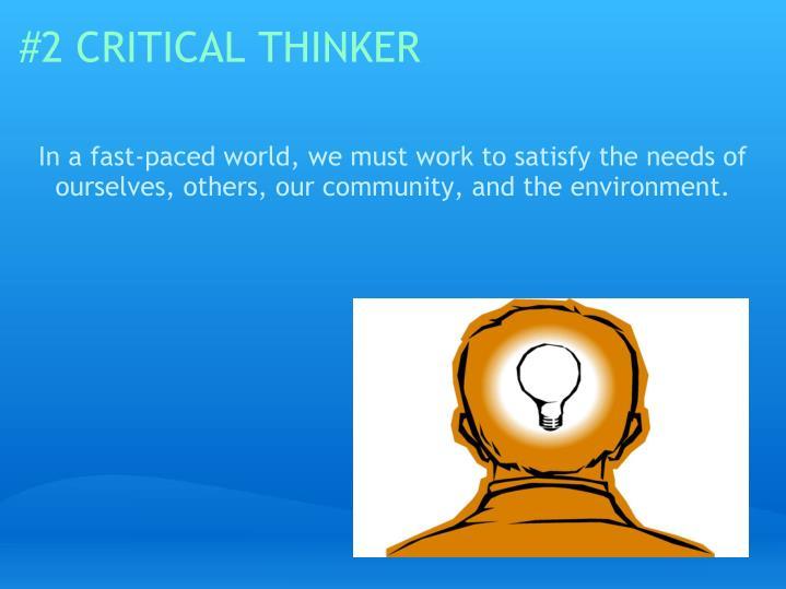 2 critical thinker