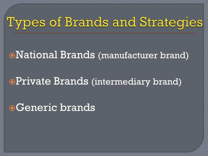 Types of Brands and Strategies