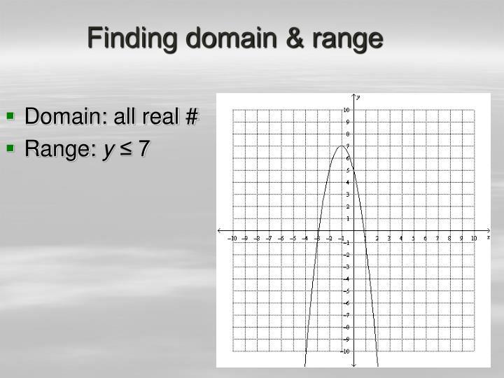 Finding domain & range