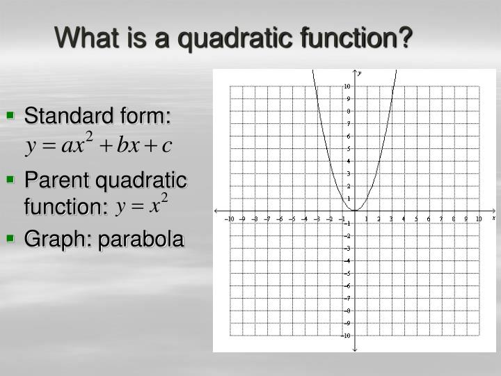 What is a quadratic function