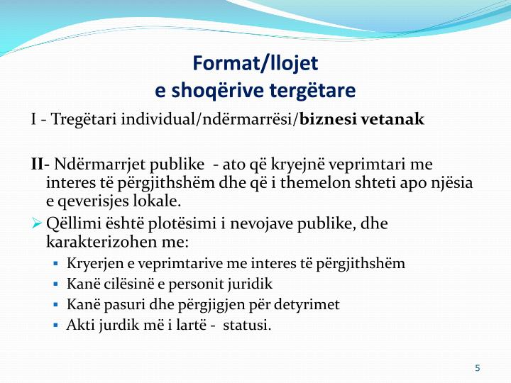 Format/llojet