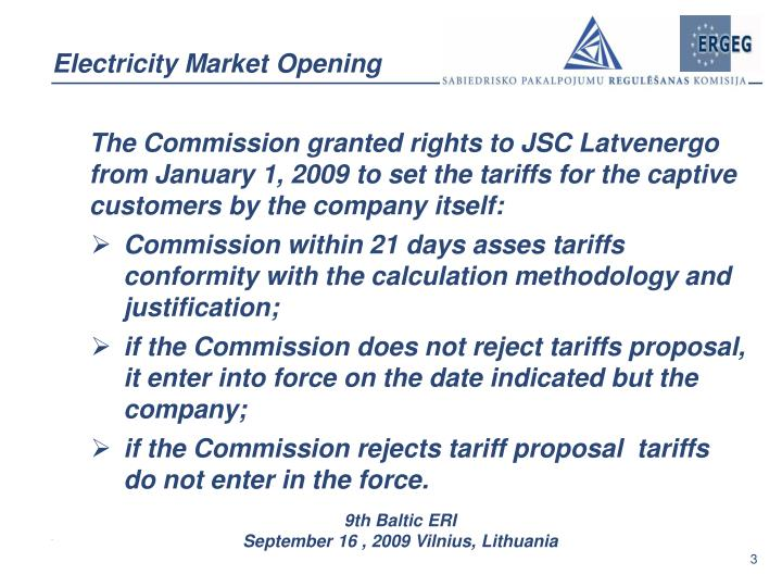 Electricity market opening1