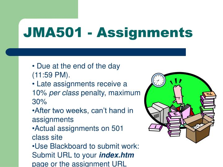 JMA501 - Assignments
