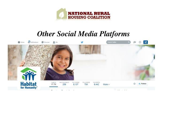 Other Social Media Platforms