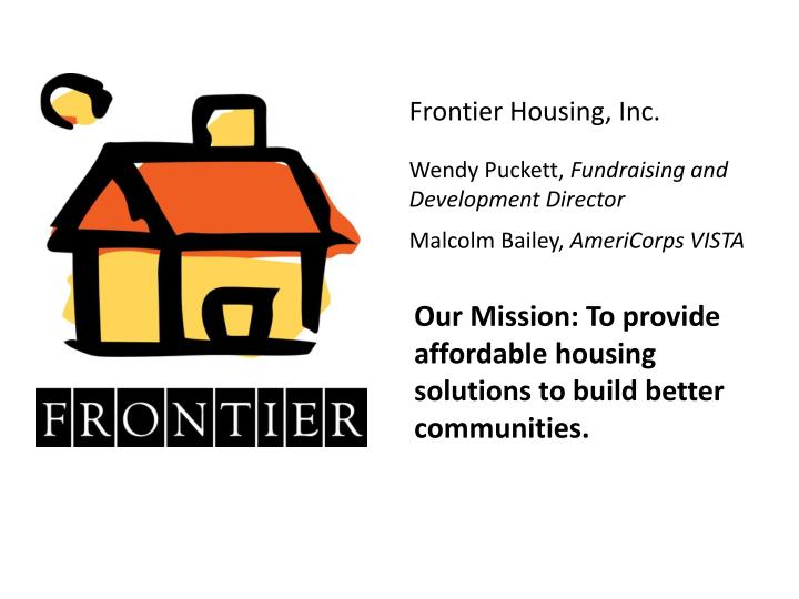 Frontier Housing, Inc.